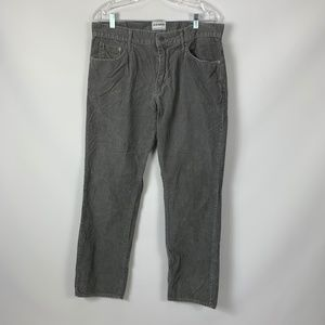 OLD NAVY Gray Corduroy 34 X 32 Pants